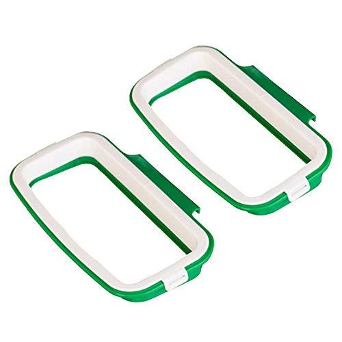 sackhalter, 2 Stück Kunststoff Küchen Abfallsackhalter Lagerung Hängend Papierkorb Taschen, Praktische Halterung für Küche Schrank Heckklappe Stand (10,2 x 22 cm) ()