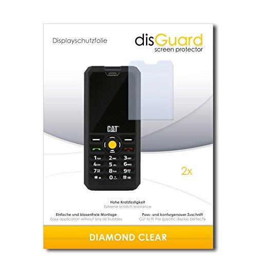 2 x disGuard® Displayschutzfolie Caterpillar Cat B30 Dual SIM Schutzfolie Folie