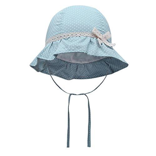 d841e35d674 Vivo-biniya Baby Girl Sun Hats Toddler Girl Summer Hats Lace Bowknot Hats 0-