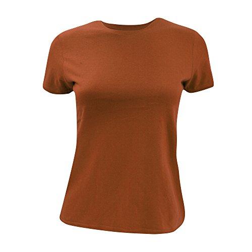B&C - T-shirt à manches courtes - Femme Orange citrouille