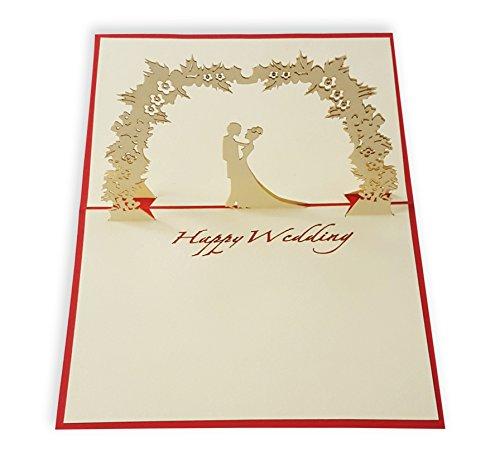 yokarta 3d pop up cards wedding card with envelope wedding party
