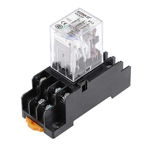 ZCHXD DC36V Coil Green Indicator Light 11pins/terminals, 3P3T Electromagnetic General Purpose Power Relay + Socket Base -