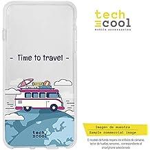 Funnytech® Funda Silicona para Huawei P20 [Gel Silicona Flexible, Diseño Exclusivo] Caravana
