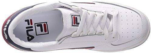 Fila originale Tennis Classic Sneaker Bianco / Marina / Rosso
