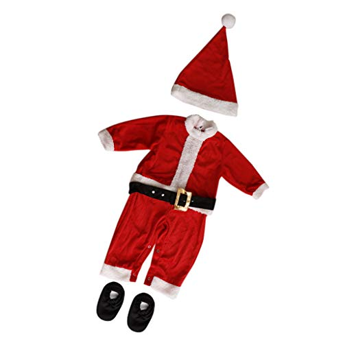 Fenteer Baby Santa's Elf Fancy Dress Up Christmas Costume Outfit 10-12Months Santa Claus - Weihnachtsmann, 10-12Monate