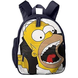 Simpson Mini Mochila para niños, Mochila pequeña para guardería, Preescolar, para niños y niñas