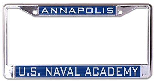 Wincraft Snack-Schale United States Naval Academy Premium Nummernschild Rahmen, Metall mit eingelegten Acryl - United License Plate Frame