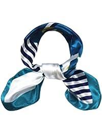 Saingace® Soie satin chaud foulard carré occupation de la mode --Femmes foulards en satin de soie rayée