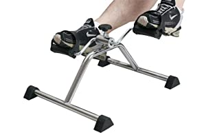 Pedal Exerciser, Mini Exercise Bike, Portable Indoor Fitness, Arm and Leg Exerciser, Work Out and Rehabilitation, Sturdy Exerciser with Adjustable Resistance