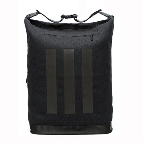 15 6 Zoll Leinwand Outdoor Reise Rucksack Umhängetasche Daypack,LightGray Black