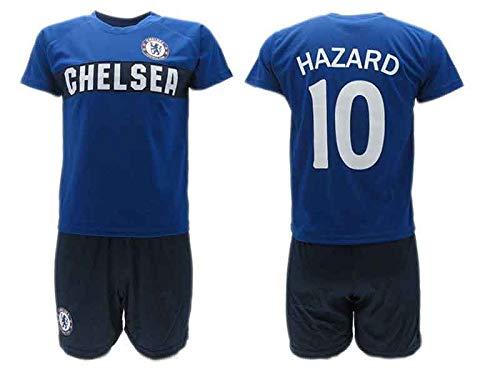 Komplett Offiziell Fußball Eden Hazard 10 Chelsea Trikot Blau Blues Saison 2018-2019 Replica OFFIZIELLE mit Lizenz - Geschenkbox Shirt + Shorts (8 Jahre)