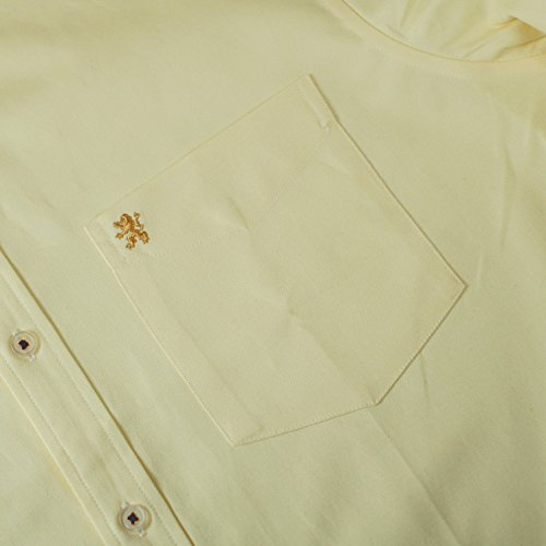 Janeo Men's Shirts -  Camicia classiche  - Uomo Mellow Lemon