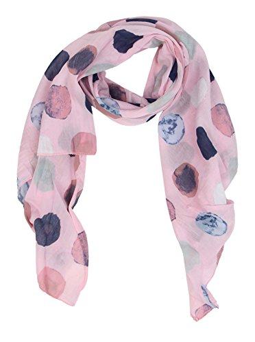 Cashmere Dreams Seiden-Tuch für Damen mit Punkt-Print von Zwillingsherz/Elegantes Accessoire für Frauen auch als Schal/Seiden-Schal/Halstuch/Schulter-Tuch oder Umschlagstuch einsetzbar (rosa)