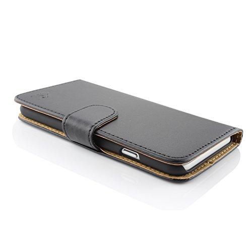 iPhone 6 / 6s Étui, Urcover Housse Livre Wallet Coque Apple iPhone 6 / 6s Case [avec Fente pour Cartes + Support] Téléphone Noir Smartphone Noir