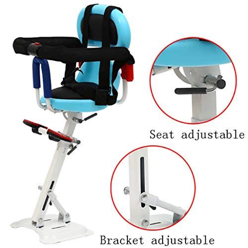 FEFEFEF Elektroauto vorne Kindersitz Motorrad Elektro-Fahrrad Fahrrad Roller vorne Sicherheitssitz,Blue