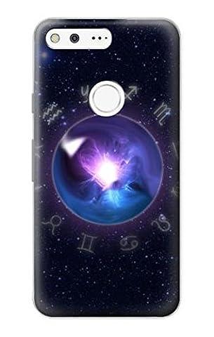 Zodiac Crystal Ball Hülle Schutzhülle Taschen für Google Pixel (Zodiac Tasche)