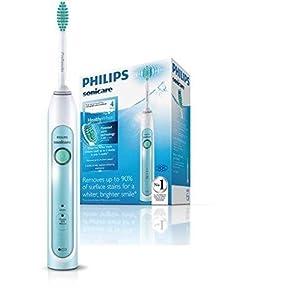 Philips Sonicare HealthyWhite Elektrische Zahnbürste mit Schalltechnologie HX6711/02, mintgrün/weiß
