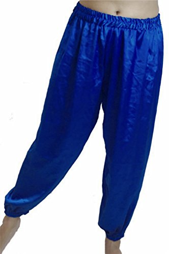 Dancers World Ltd (UK Seller) Bauchtanz Satin Harem Hosen für Dancing Tribal Dancer Kostüm-Junior S M, königsblau