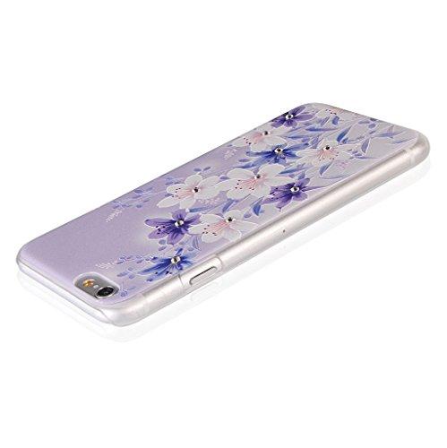 UKDANDANWEI Apple iPhone 6S Plus Hülle Case - Bling Strass Ultra Dünn Hart PC Hülle Glitzer Rückseite Slim Etui Schale für Apple iPhone 6S Plus -22 Bling-10