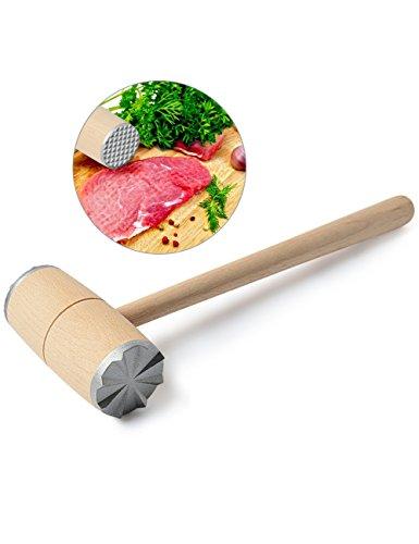 Fleischklopfer, Fleischklopfer mit zwei Bearbeitungsflächen 27/10 Doppelseitig Fleischklopfer-Tool Geschenk Fleischhammer