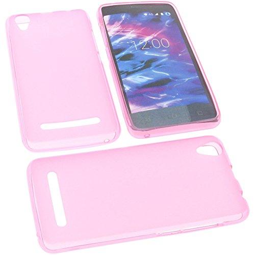 foto-kontor Tasche für MEDION Life E4504 Gummi TPU Schutz Handytasche pink