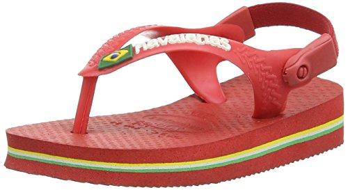 Havaianas Baby Brasil Logo, Unisex Baby Zehentrenner Sandalen, Rot (Rot 2090), 24 EU (22 Brazilian)