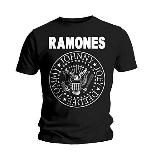 Rockoff Trade Herren Ramones Seal T-Shirt, Schwarz, XXL