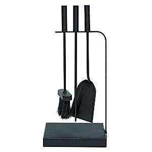 JVL Belmont – Juego de Herramientas para Cortar Chimenea (Acero, 23 x 15 x 45 cm, 3 Piezas), Color Negro