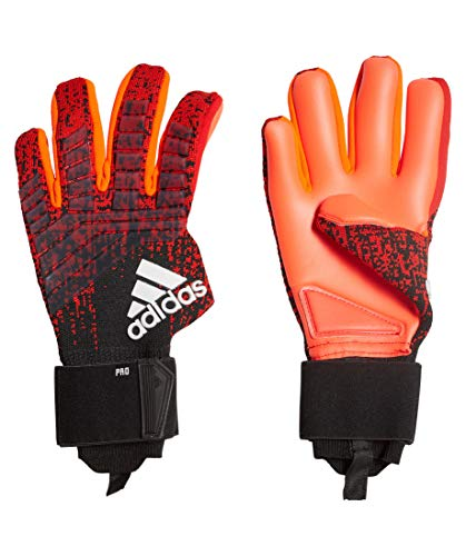 adidas Herren Predator Pro Torwarthandschuhe, Active Black/Solar Red, 9.5