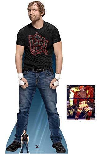 (BundleZ-4-FanZ by Starstills WWE Dean Ambrose Lebensgrosse und klein Pappaufsteller mit 25cm x 20cm Foto)