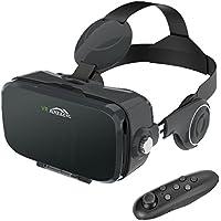 """Lunettes 3D VR , MENGGOOD Casques de Réalité Virtuelle avec Bluetooth Télécommande Headset Box pour VR Jeux et Films 3D Compatible avec iPhone 7 / 6S / 6 Plus / 5S Samsung S8 / S7 et 4.0""""-6.0"""" Smartphones [Noir]"""