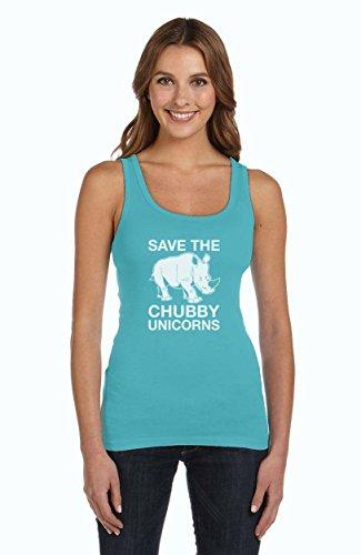 Lustiges Geschenk Save the Chubby Unicorn Frauen Tank Top Hellblau