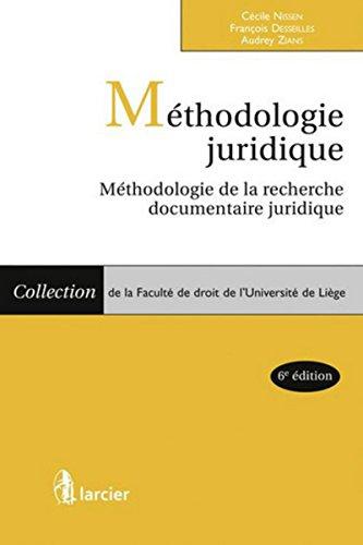 Méthodologie juridique: Méthodologie de la recherche documentaire juridique