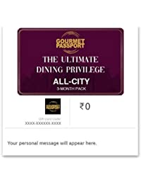 Dineout Gourmet Passport All 20 Cities-3 Months E-Gift Card