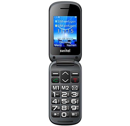 Switel M265D Notruftelefon mit großem Farbdisplay und Hörerlautstärke Extra Laut