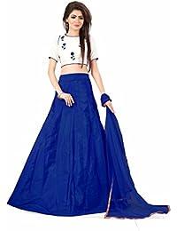 Shree Rang Creation Women's Blue Taffeta Silk Designer Lehenga Choli(AFL-10_Blue_Free Size)