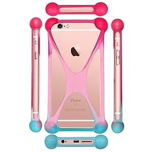 Casotec Universal Silicone Bumper Frame Soft Gel Phone Case Cover for Micromax Canvas 6 Pro - Multicolor
