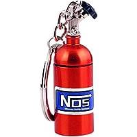 Preisvergleich für Mini-Kapsel Pillendose, Wasserdicht Schlüsselanhänger Aluminum Tablettendose zur Aufbewahrung von Kleinteilen-Rot