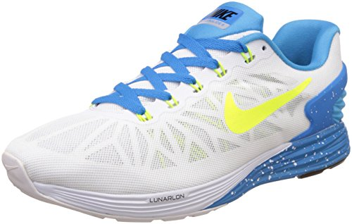 new products ce07e 628f5 Nike 654433-103 Mens Lunarglide 6 White Running Shoes 9 Uk India 44- Price  in India