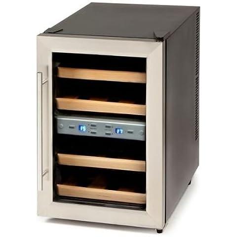 Domo DO909WK - Enfriador de vino (Independiente, Negro, Acero inoxidable, Madera, Botones, Nevera de vino