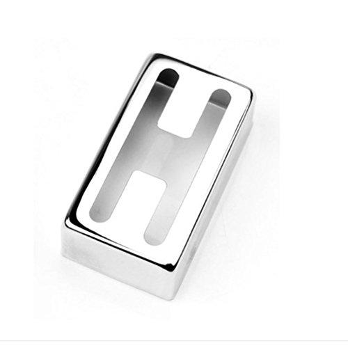 Preisvergleich Produktbild PIXNOR Pickup Cover für e-Gitarre Kupfer H-Humbucker Pickup förmigen Cover (Silber)