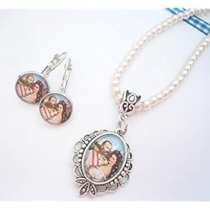Set: Perlenkette und Ohrringe