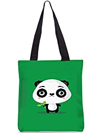Snoogg Baby Panda Designer Poly Canvas Fashion Printed Shopping Shoulder Lunch Tote Bag For Women