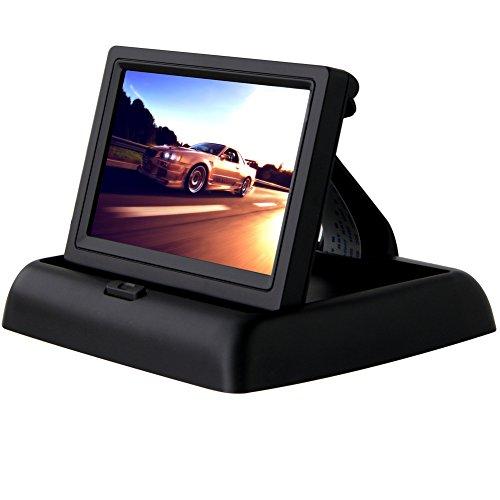 Pathson 480RGB 4.3' TFT LCD Moniteur Pliable Voiture Écran Couleur Pour Caméra de Recul
