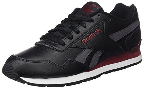 Reebok Royal Glide Clip2, Chaussures de Fitness Homme Noir (Black/ash Grey/rugged Maroon/white)