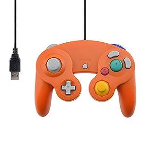 Ruitroliker USB Verdrahtet Controller PC Gamepad für NGC Style PC Mac Orange