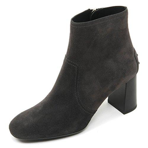 B9656 tronchetto donna TOD'S gomma T70 scarpa grigio scuro shoe boot woman Grigio scuro
