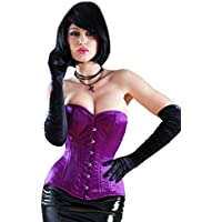 Killer Corsets Women's Corset PVC Satin Purple Overbust Victorian Design