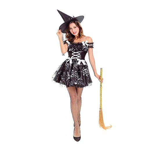 Fashion-Cos1 Böse Hexe Kostüm Halloween Party Sexy Hexe Cosplay Karneval Fantasie Kostüm Maskerade Prinzessin Kleid