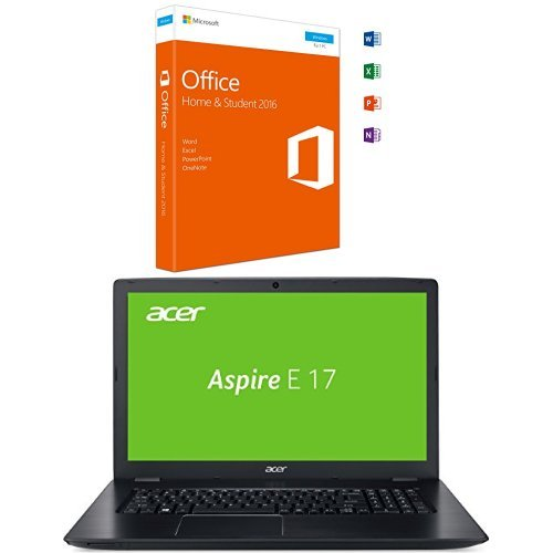 Microsoft Office Home and Student 2016 + Acer Aspire E 17 (E5-774G-553R) 43,9 cm (17,3 Zoll Full HD) Notebook